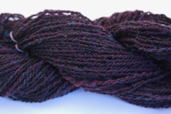 70% Corridale wool 30% kid mohair. Two tone mohair hand spun into wool gives a lovely subtle variation. 131 gr 158 yds $19.75
