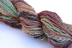 #1807 100% Finn Wool Handspun, Hand painted 2-ply hand painted 81 gr 116 yds $14.50
